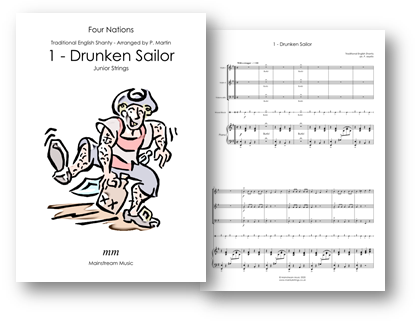 Drunken Sailor - Four Nations - Junior Strings