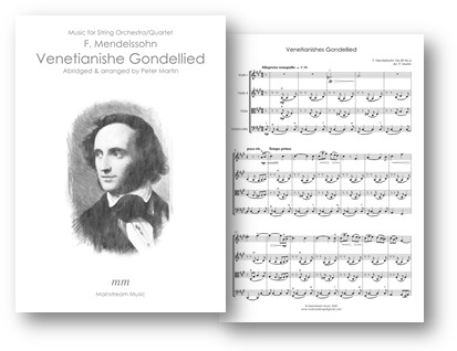 Venetianishes Gondellied - String Quartet-Orchestra
